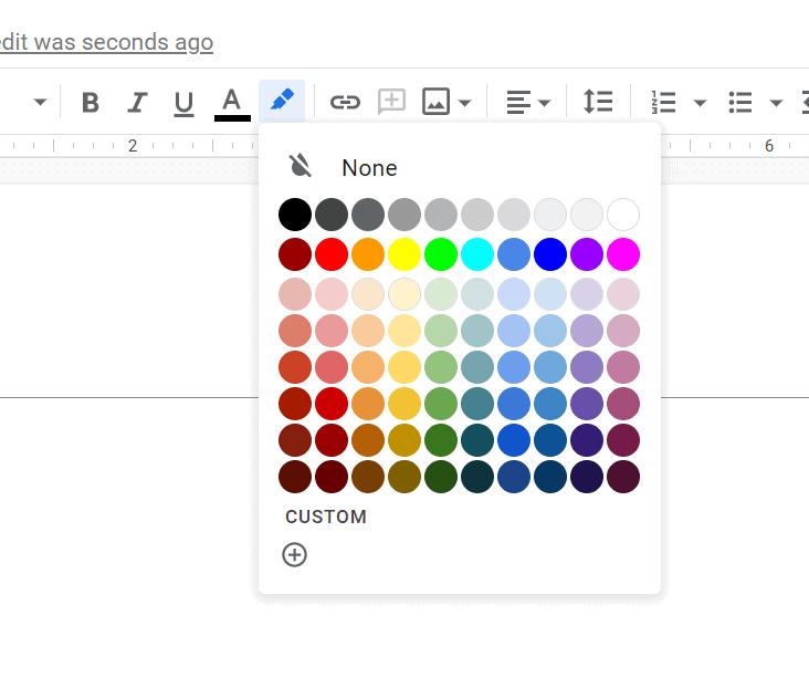 Change the Color of Line - Google Doc