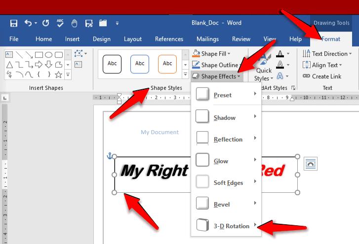 How to Mirror / Flip Text in MS Word - OfficeBeginner